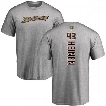 Men's Danton Heinen Anaheim Ducks Backer T-Shirt - Ash
