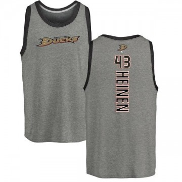 Youth Danton Heinen Anaheim Ducks Backer Tri-Blend Tank Top - Ash