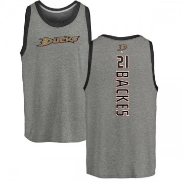 Youth David Backes Anaheim Ducks Backer Tri-Blend Tank Top - Ash
